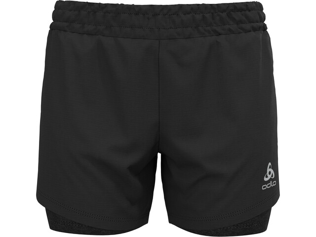 """Odlo Run Easy 5 """"2-i-1 shorts Damer, sort"""